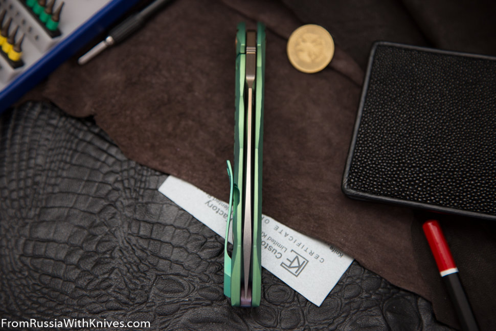 #15 Rabbit Knife customized (Alexey Konygin design, s35vn, titanium, bearings)