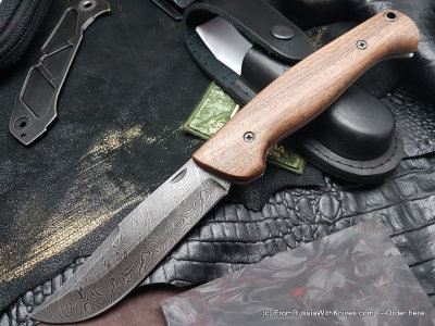 Varyag knife (damascus, wood)