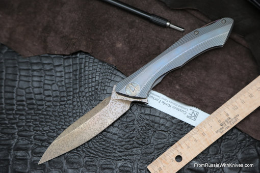 #16 Rabbit Knife customized (Alexey Konygin design, s35vn, titanium, bearings)