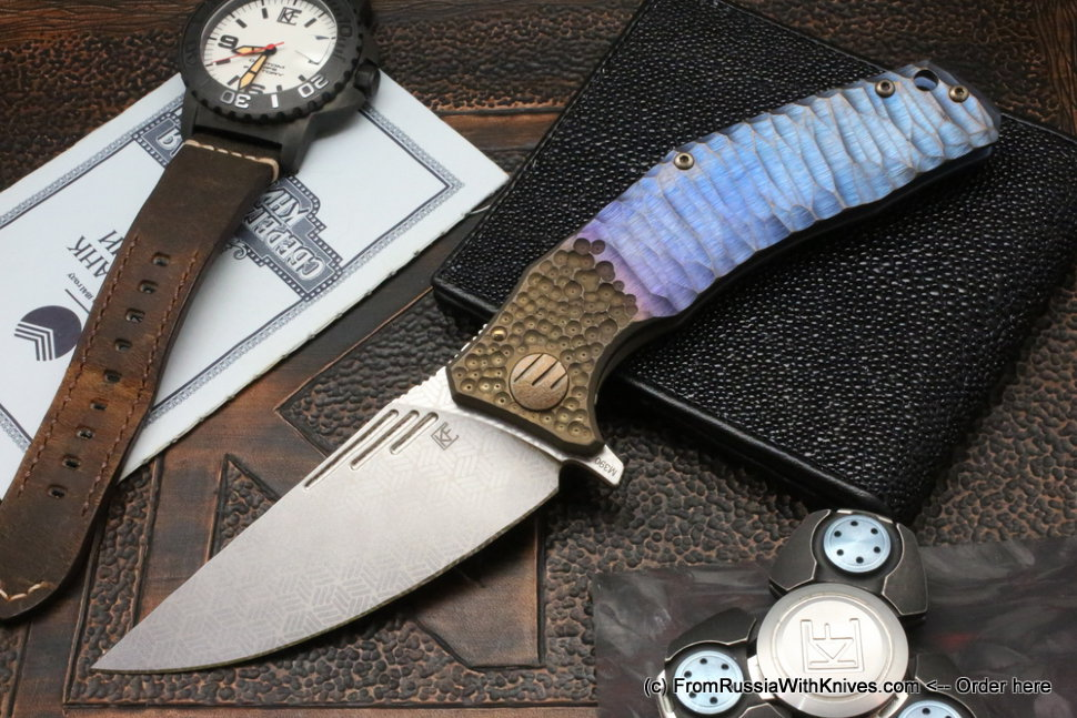 One-off customized Morrf Knife -БОЛЬSTER-