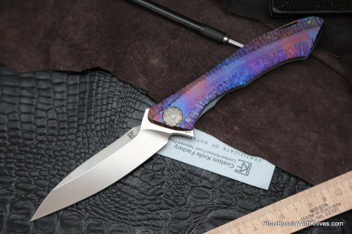 #17 Rabbit Knife customized (Alexey Konygin design, s35vn, titanium, bearings)