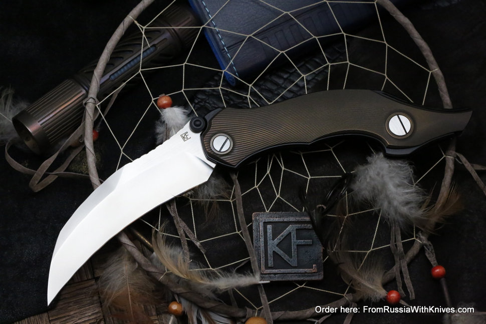 Garage sale - Krokar Ti knife (Konygin, Ti, Zirc, M390)