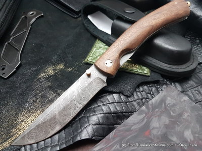 Kayros knife (damascus, wood)