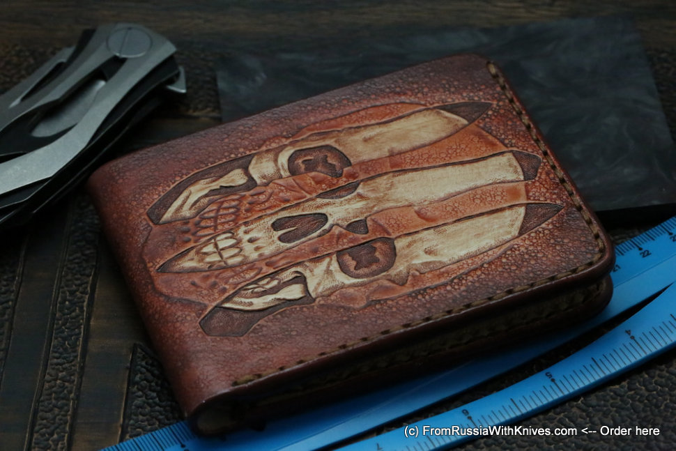 Custom Leather Wallet CKF Trinity 4