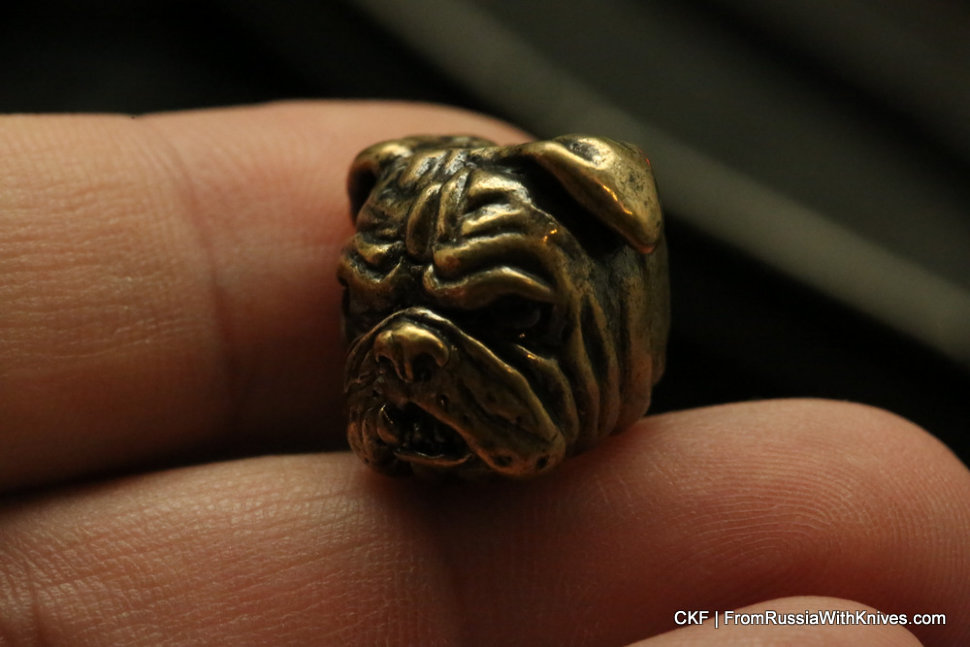 Brass Bead -Dog1-