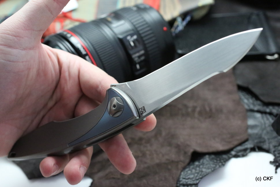 DISCONTINUED - CKF Tegral knife (Malyshev design, integral handle, M390, bearings)