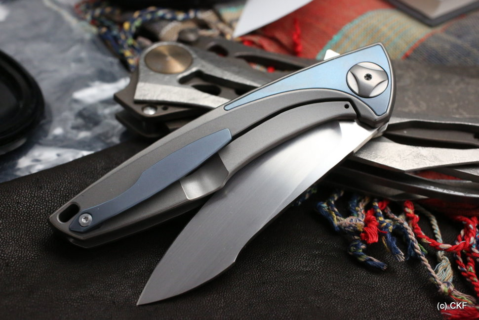 CKF Tegral knife (Malyshev design, integral handle, M390, bearings)