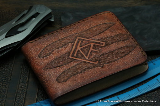 Custom Leather Wallet CKF Trinity 5