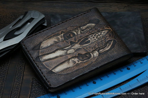 Custom Leather Wallet CKF Trinity 7