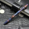 "Ball pen ""Seito"" (""Shattering bamboo"" handmade engraving, oxidized) by Dmitry Streltsov"