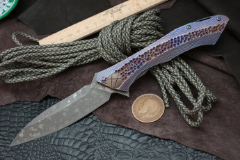 #18 Rabbit Knife customized (Alexey Konygin design, s35vn, titanium, bearings)