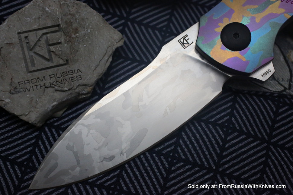 One-off Baugi knife -PUNK CAMO-