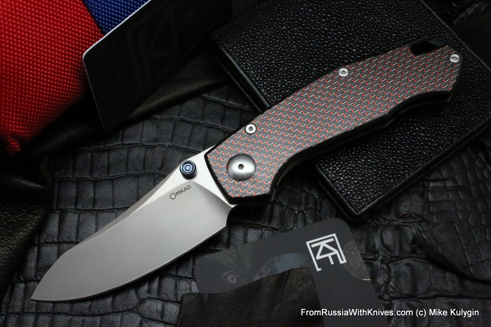 Farko knife (red G10, M390, Ti, bearings)