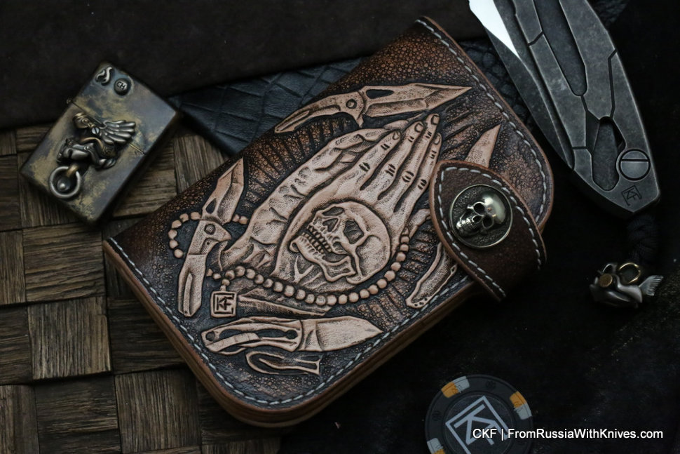 Custom Leather Wallet CKF Pray-1