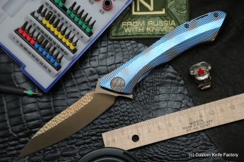 #20 Rabbit Knife customized (Alexey Konygin design, s35vn, titanium, bearings)