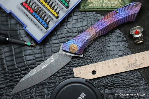 #21 Rabbit Knife customized (Alexey Konygin design, s35vn, titanium, bearings)