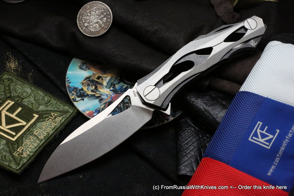 DISCONTINUED - DCPT-3 damascus clip (Aleksey Konygin, M390, bearings)