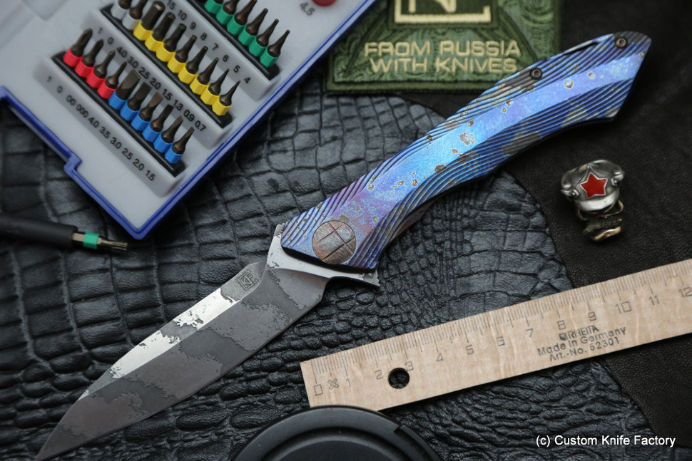 #19 Rabbit Knife customized (Alexey Konygin design, s35vn, titanium, bearings)
