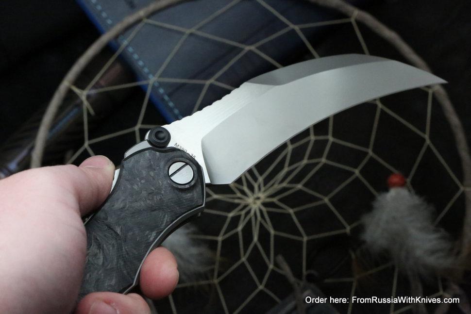 Krokar CF knife (Konygin, Ti, CF, Zirc, M390)