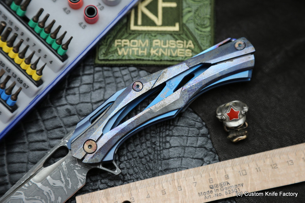 #49 Customized Decepticon-1 Knife (Alexey Konygin design, Stas Bondarenko customization)