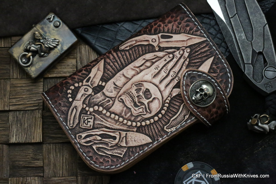 Custom Leather Wallet CKF Pray-3