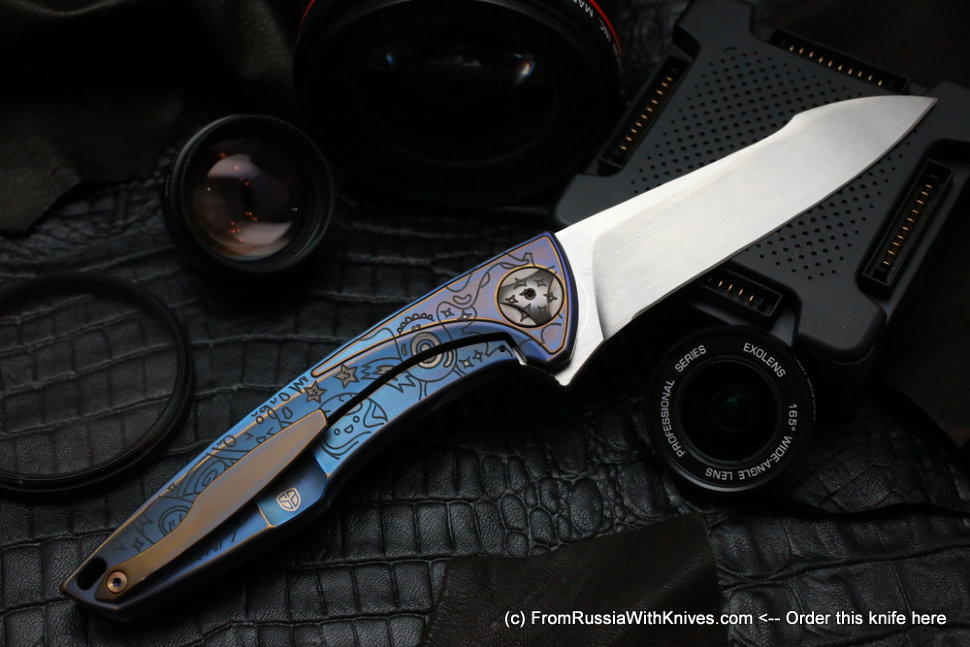 One-off customized Tegral knife -POW!-
