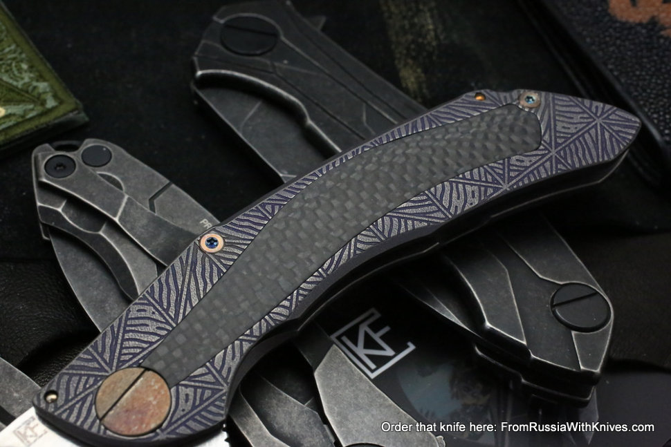 One-off CKF Sablya knife - BLUZ -