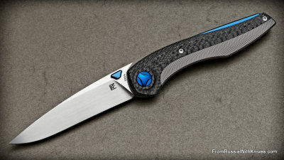 Sukhoi Knife AND (Anton Malyshev design, S35VN, 2rbs, titanium+CF)