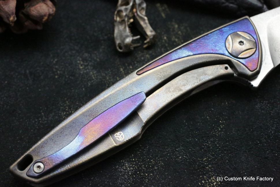 Customized Tegral knife -Scull Wings-