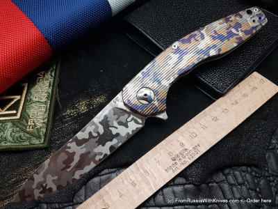 Customized S.S.E. -CAMO1- (Malyshev design, M390, ceramic bearings)