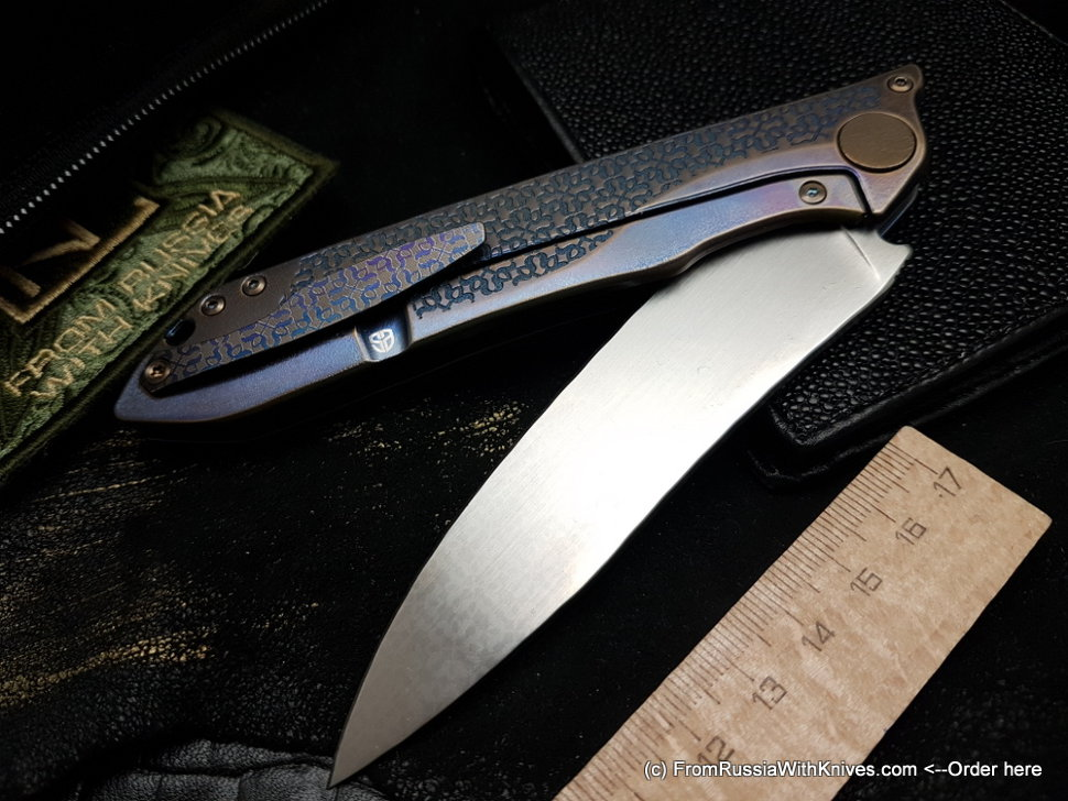 One-off Customized MILK - PATT -  (M390, Ti anod, bearings, handrubbed satin)