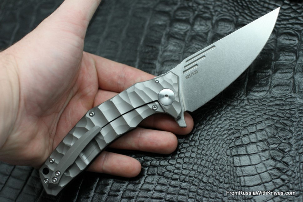 DISCONTINUED - Morrf Knife (Evgeny Muan design, S35VN, bearings, titanium+G10)