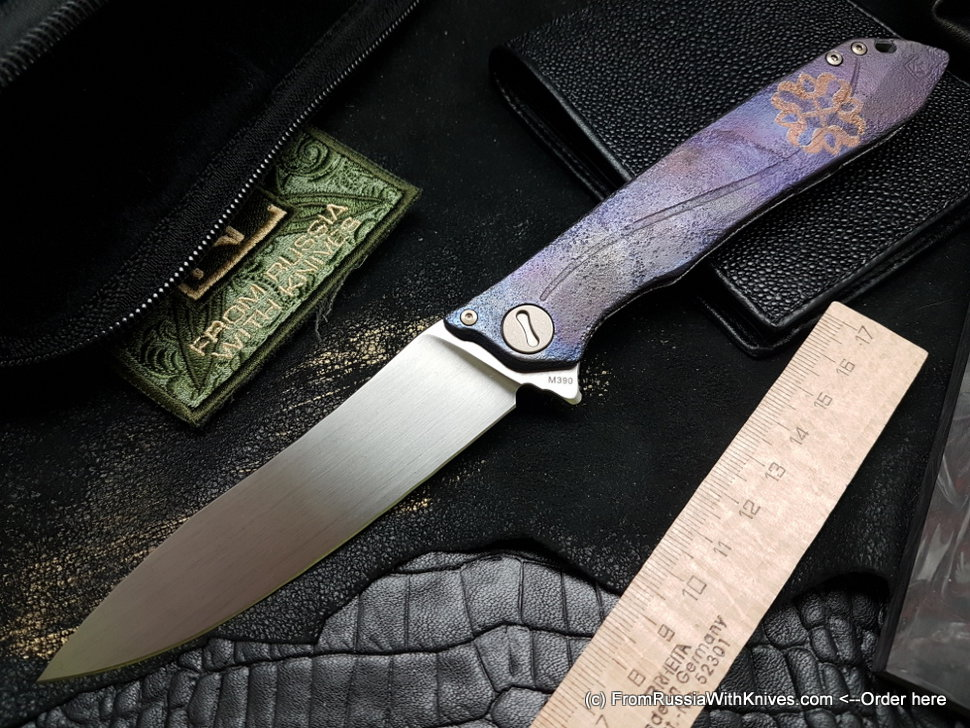 One-off Customized MILK - OLDBLUE -  (M390, Ti anod, bearings, handrubbed satin)