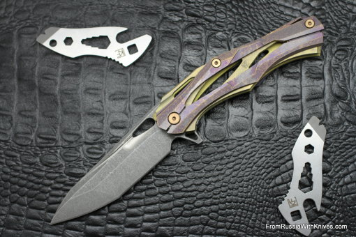 #14 Customized Decepticon-1 Knife (Alexey Konygin design, Stas Bondarenko customization)