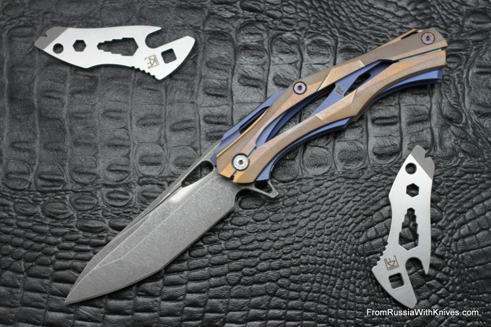 #12 Customized Decepticon-1 Knife (Alexey Konygin design, Stas Bondarenko customization)