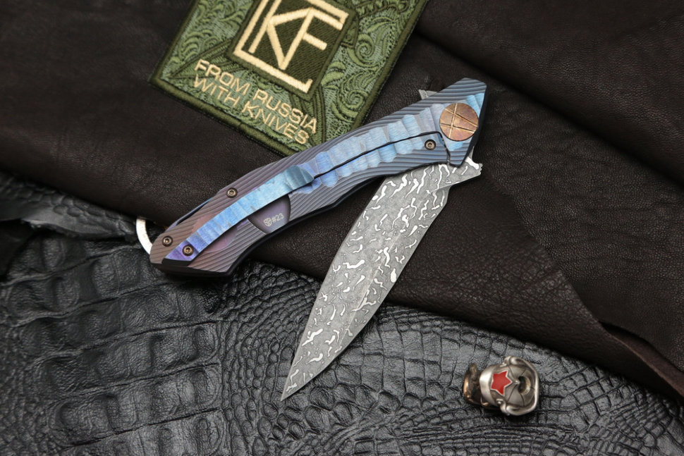 #23 Rabbit Knife customized (Alexey Konygin design, s35vn, titanium, bearings)