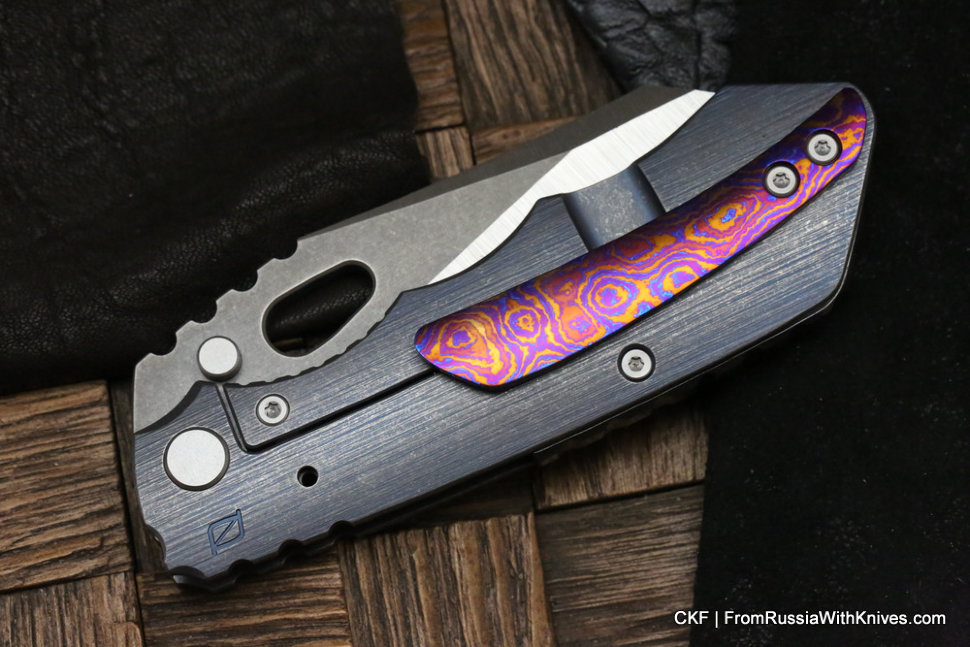 Timascus clip for CKF / Rotten Evolution Knife