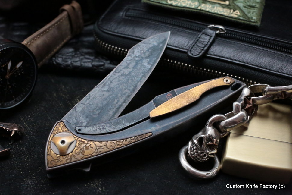 Customized Tegral knife -Gold Old One-