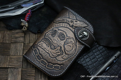 Custom Leather Wallet CKF CHEREP SV