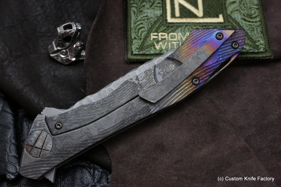 #24 Rabbit Knife customized (Alexey Konygin design, s35vn, titanium, bearings)