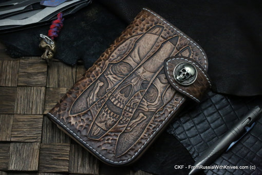 Custom Leather Wallet CKF TRINITY SV