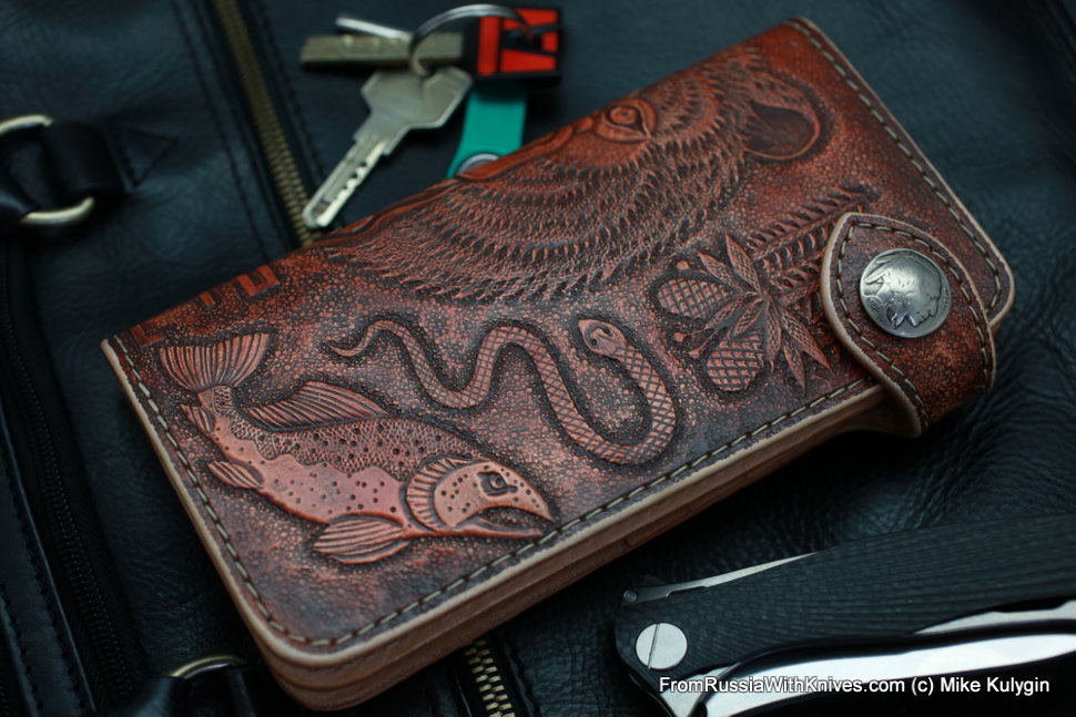 Custom Leather Clutch Wallet CKF MEDVED-L2