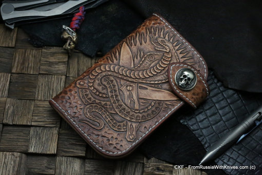 Custom Leather Wallet CKF NAJA DCPT