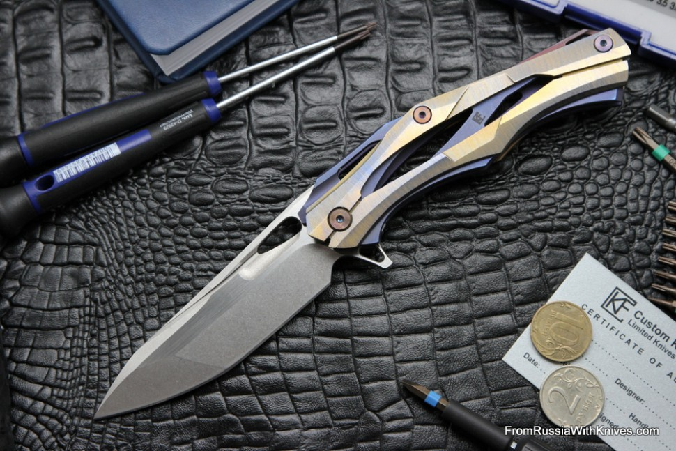 #16 Customized Decepticon-1 Knife (Alexey Konygin design, Stas Bondarenko customization)