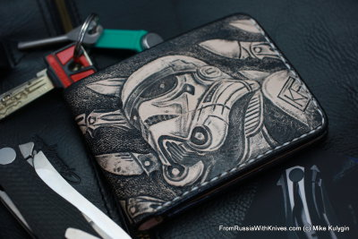 Custom Leather Wallet CKF INVASION