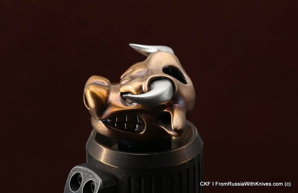 Brass Bead  Big Powerful Bull  (2 metal parts)