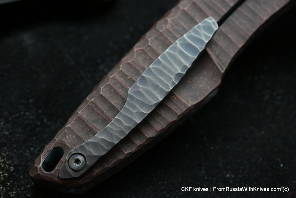 Customized Tegral knife -Copper Waves-