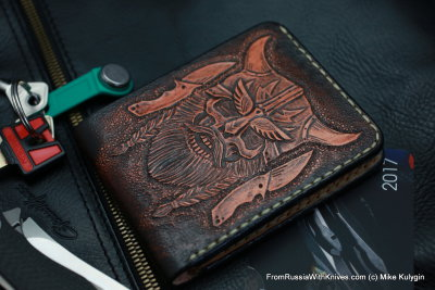 Custom Leather Wallet CKF DVKNG2