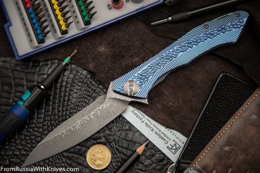 #14 Rabbit Knife customized (Alexey Konygin design, s35vn, titanium, bearings)