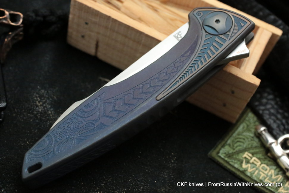 Customized Tegral knife -Ratamahata Blue-